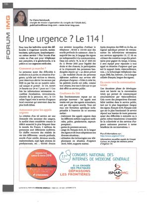 """""""Une urgence ? Le 114 !"""" - 10/2015"""