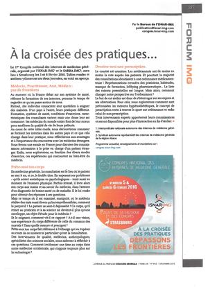 """""""A la croisée des pratiques..."""" - 12/2015"""